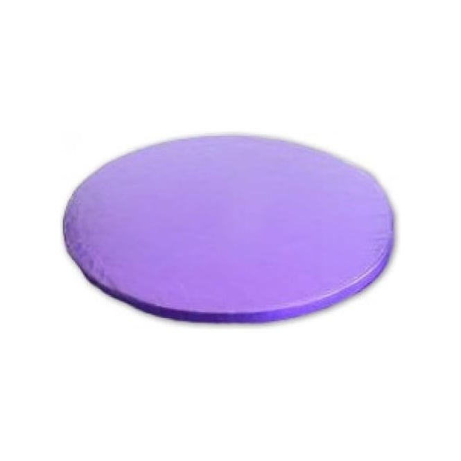 "View the 12"" PURPLE round thick cake board / drum online at Cake Stuff"