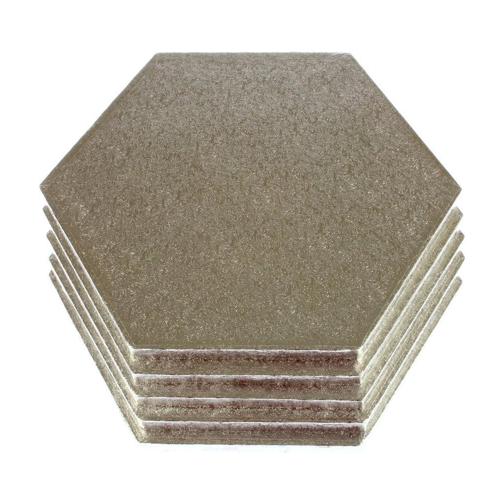 "View the 14"" (5 pack) hexagon cake boards / drums online at Cake Stuff"