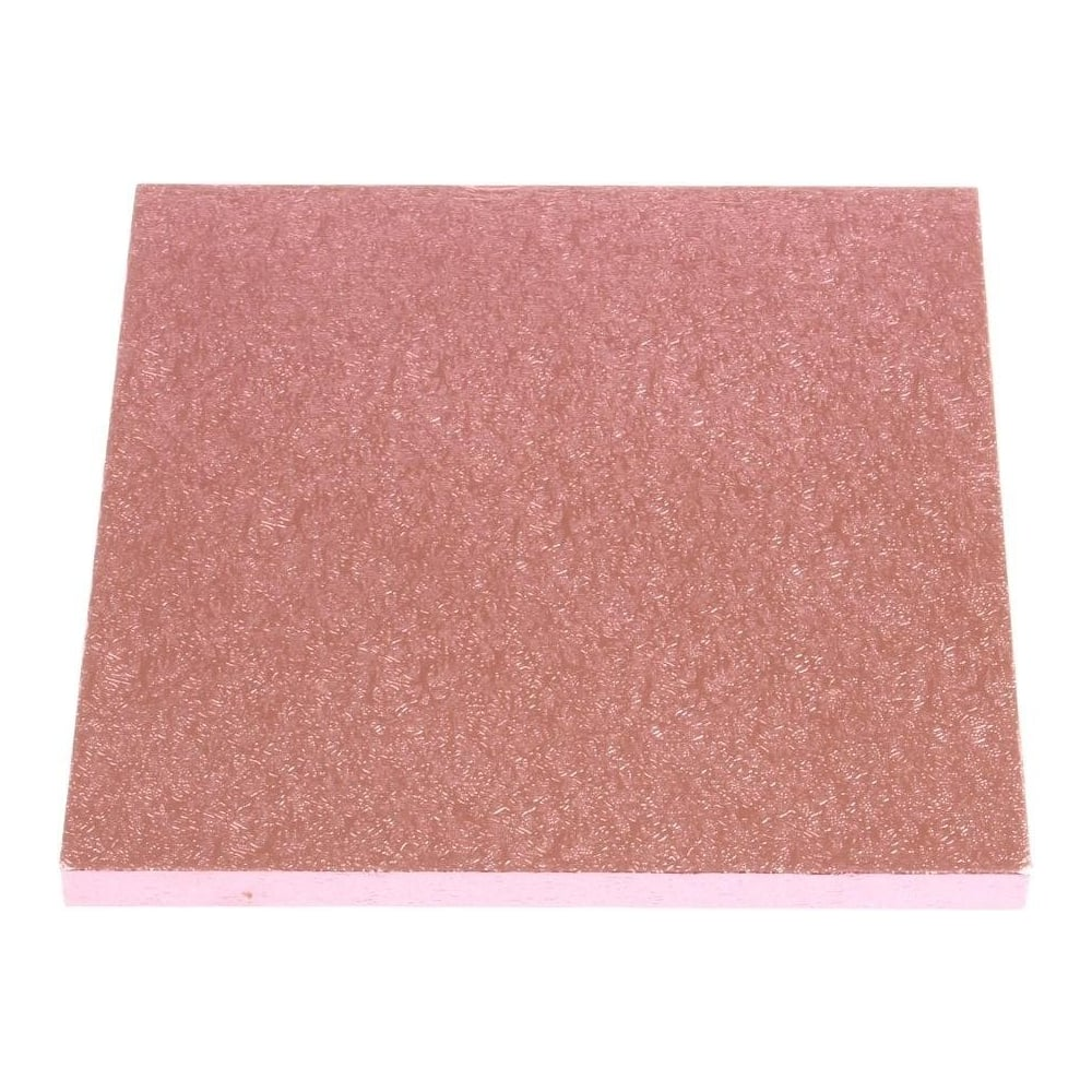 "View the 14"" PINK square thick cake board / drum online at Cake Stuff"