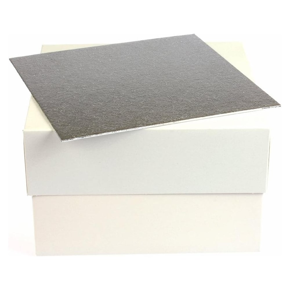 "View the 16"" square single thick cake card & box ***COMBO*** online at Cake Stuff"