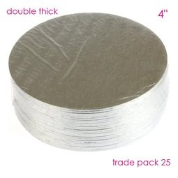 """View the 4"""" (25 pack) round double thick cake cards online at Cake Stuff"""