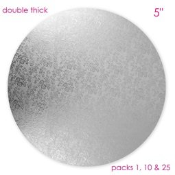 """View the 5"""" round double thick cake card online at Cake Stuff"""