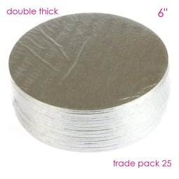 """View the 6"""" (25 pack) round double thick cake cards online at Cake Stuff"""
