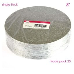 """View the 8"""" (25 pack) round single thick cake cards online at Cake Stuff"""