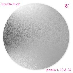 """View the 8"""" round double thick cake card online at Cake Stuff"""