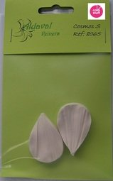 View the small COSMOS petal real flower silicone veiner set 8065 online at Cake Stuff