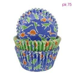 View the Dinosaurs standard cupcake baking cases - pk 75 online at Cake Stuff