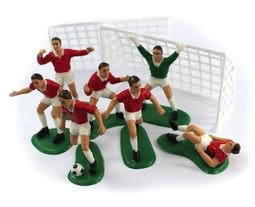 View the RED FOOTBALL 9 pc cake topper decoration set online at Cake Stuff
