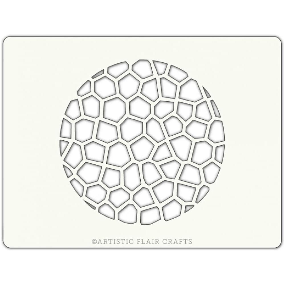 View the CRACKLE TEXTURE ROUND professional cake stencil online at Cake Stuff
