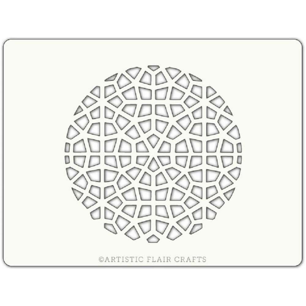 View the MOROCCAN MOSAIC 1 ROUND professional cake stencil online at Cake Stuff