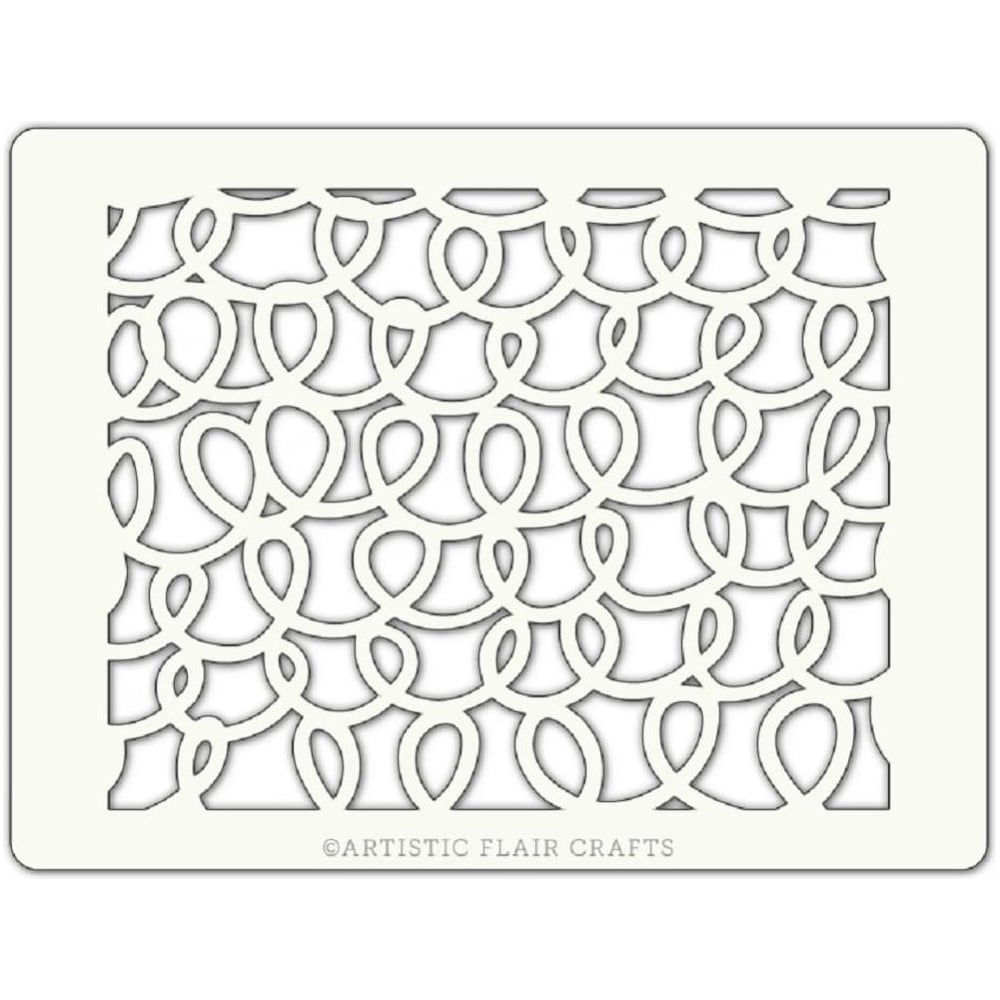 View the SQUIGGLED professional cake stencil online at Cake Stuff