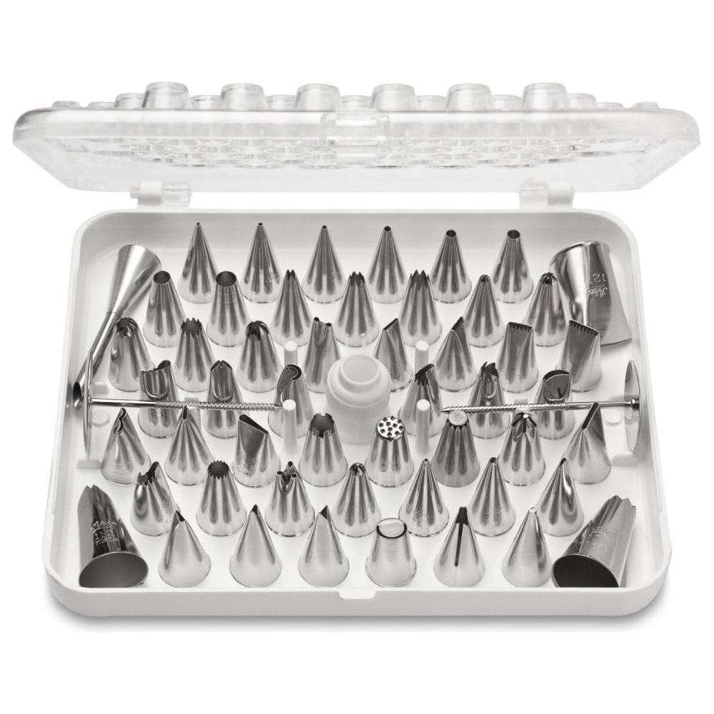 View the 55 pc pro icing nozzle piping tube tip box set online at Cake Stuff