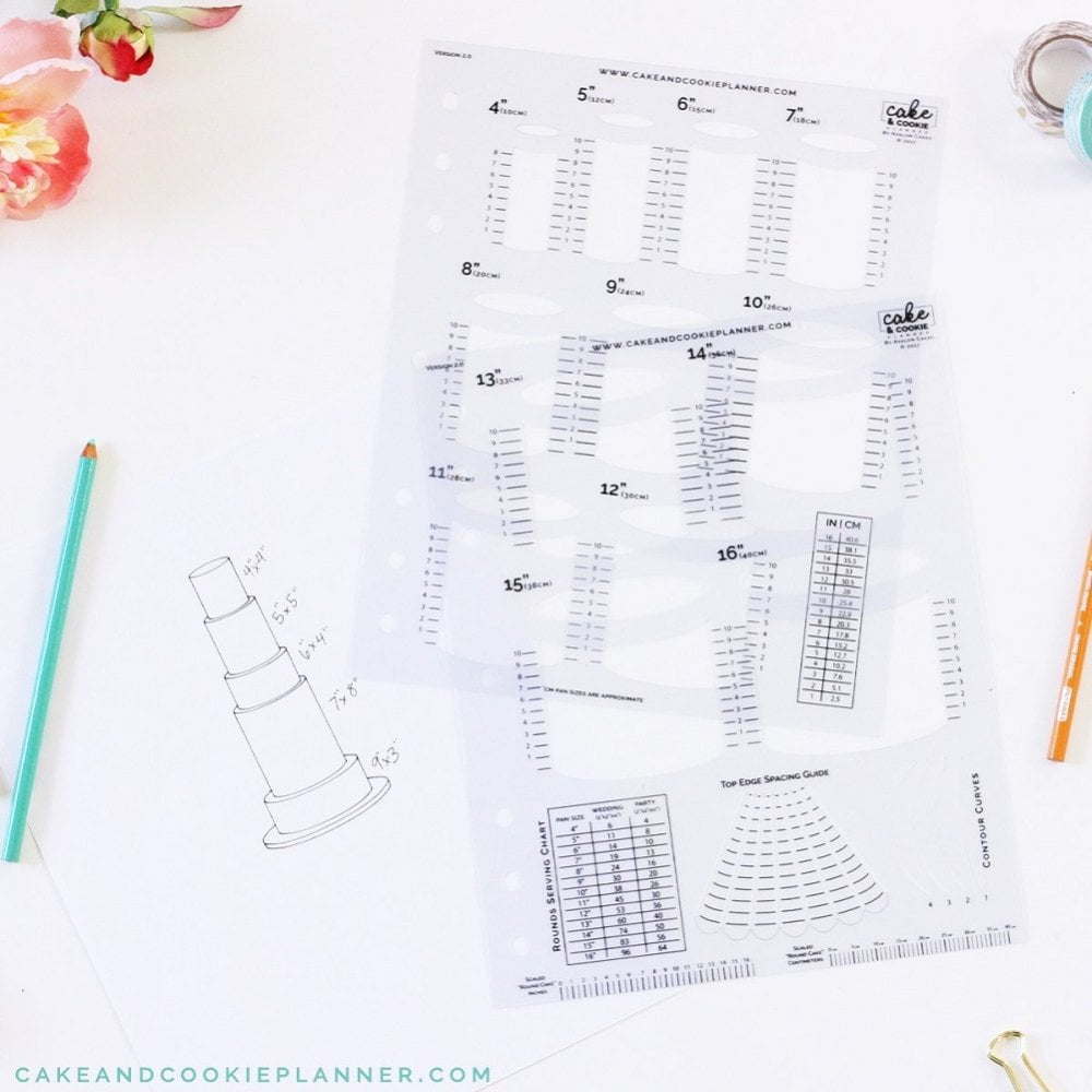 View the Cake & Cookie Planner SQUARES cake sketching templates online at Cake Stuff