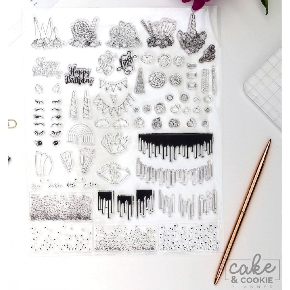 View the CELEBRATION stamps - cake sketching stamp collection set online at Cake Stuff