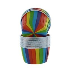 View the RAINBOW cupcake cases / baking cups pk 24 online at Cake Stuff