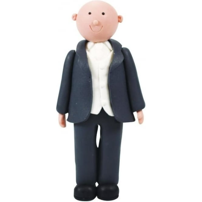 View the BALD GROOM claydough wedding cake topper decoration online at Cake Stuff