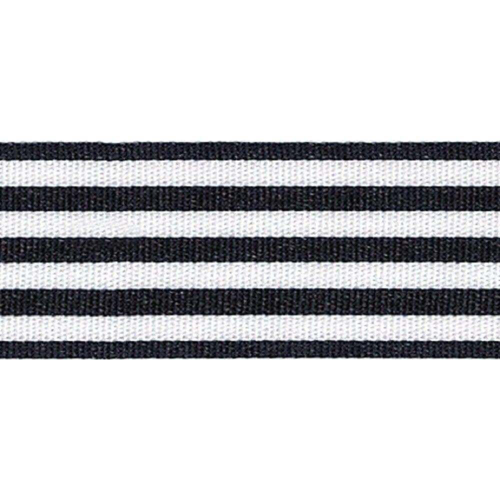 View the BLACK STRIPES 25mm x 25m satin cake ribbon online at Cake Stuff