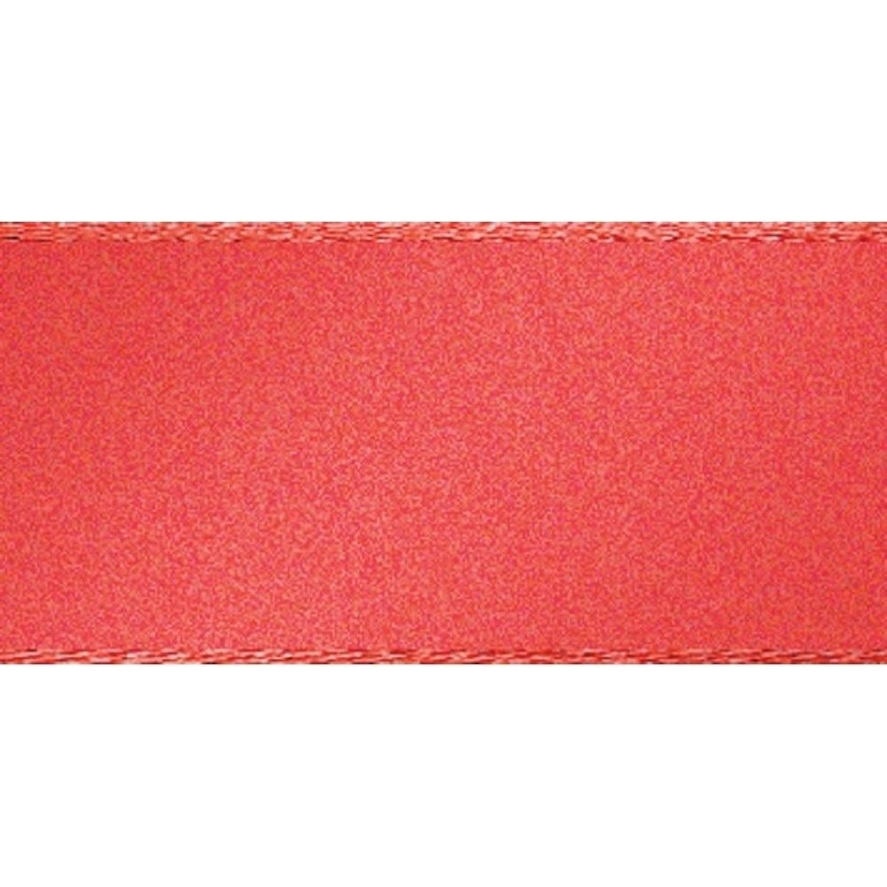 View the CORAL 15mm x 20m double face satin cake ribbon online at Cake Stuff