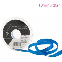 View the DARK ROYAL BLUE 10mm x 20m double face satin cake ribbon online at Cake Stuff