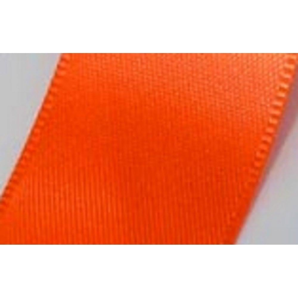 View the FLO ORANGE 25mm x 20m double face satin cake ribbon online at Cake Stuff