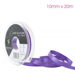 View the PURPLE 10mm x 20m double face satin cake ribbon online at Cake Stuff