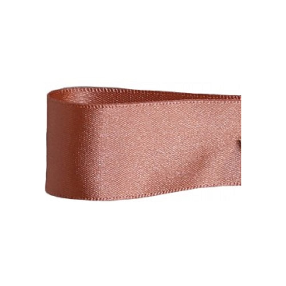 View the ROSE GOLD 25mm x 20m double face satin cake ribbon online at Cake Stuff
