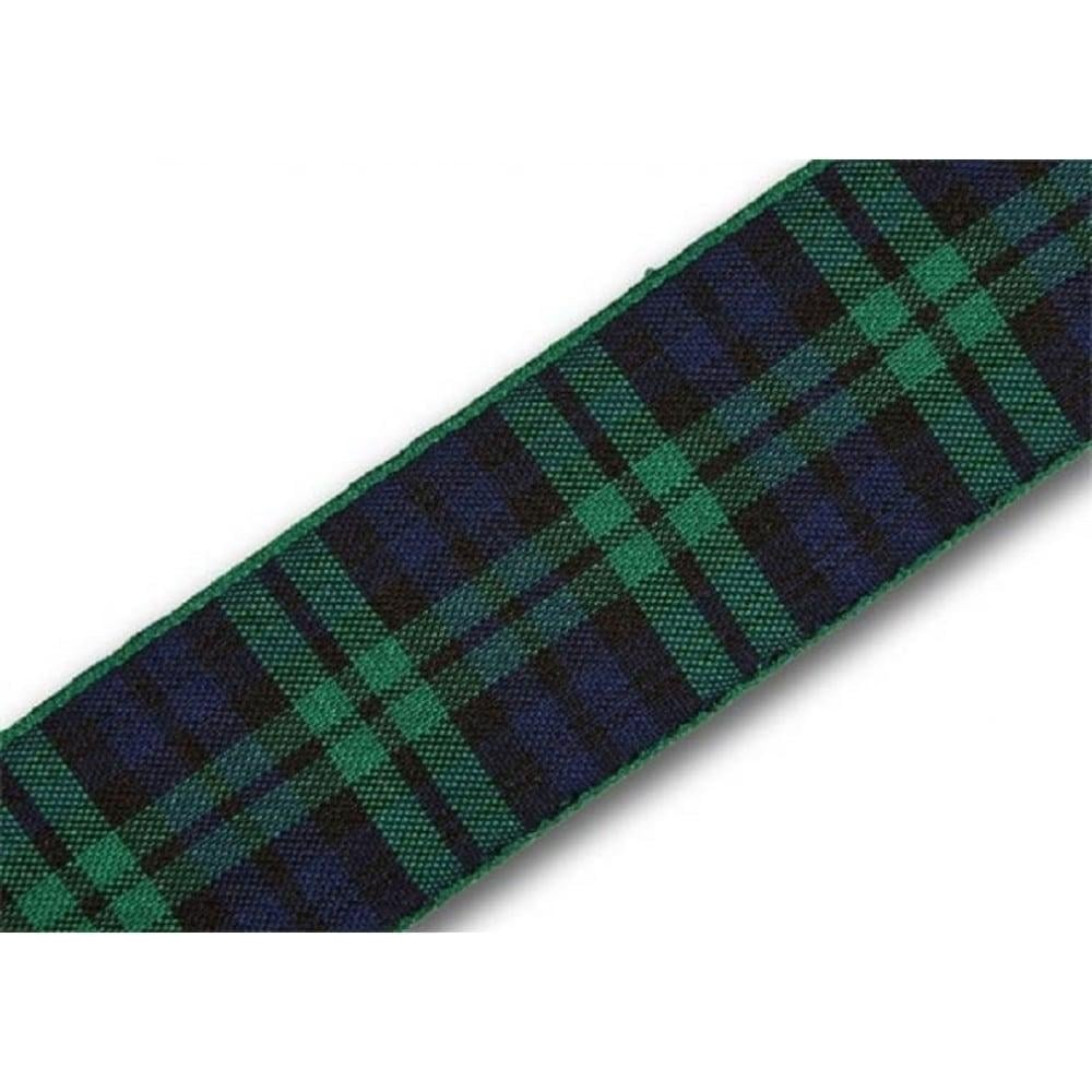 View the Black Watch 25mm Scottish tartan plaid ribbon x 25m reel online at Cake Stuff