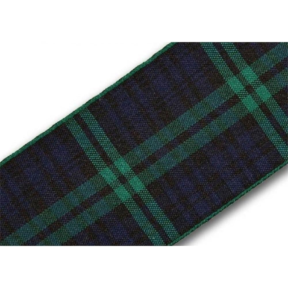 View the Black Watch 40mm Scottish tartan plaid ribbon x 25m reel online at Cake Stuff
