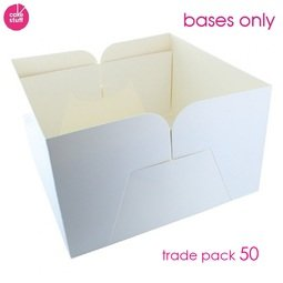"""View the BULK PACK 50 x 8"""" cake transportation box BASES ONLY online at Cake Stuff"""
