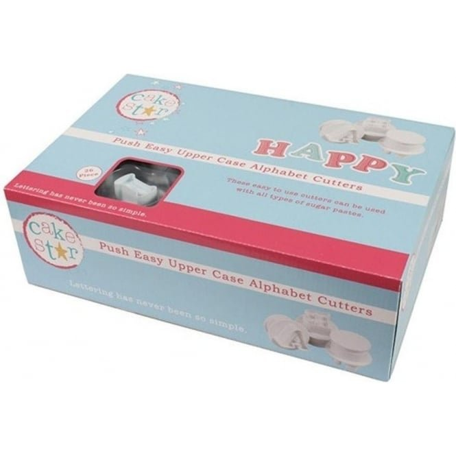 View the upper case Alphabet Push Easy icing plunger cutter set online at Cake Stuff