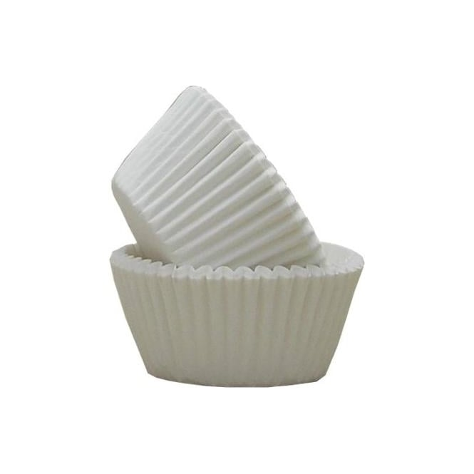 View the WHITE cupcake baking cases pk 54 online at Cake Stuff