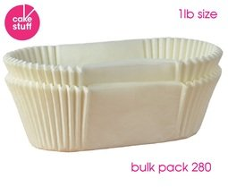 View the BULK PACK 280 x 1lb Loaf Tin Liners siliconised greaseproof paper online at Cake Stuff