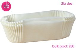 View the BULK PACK 280 x 2lb Loaf Tin Liners siliconised greaseproof paper online at Cake Stuff