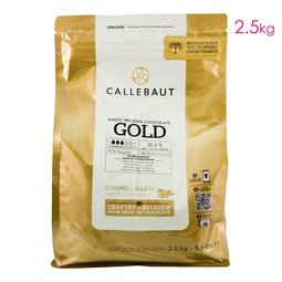 View the 2.5kg finest Belgian CARAMEL GOLD chocolate callets chips online at Cake Stuff