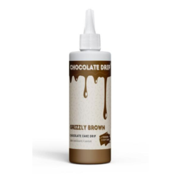 View the GRIZZLY BROWN professional choc icing for drip cakes - 250g online at Cake Stuff