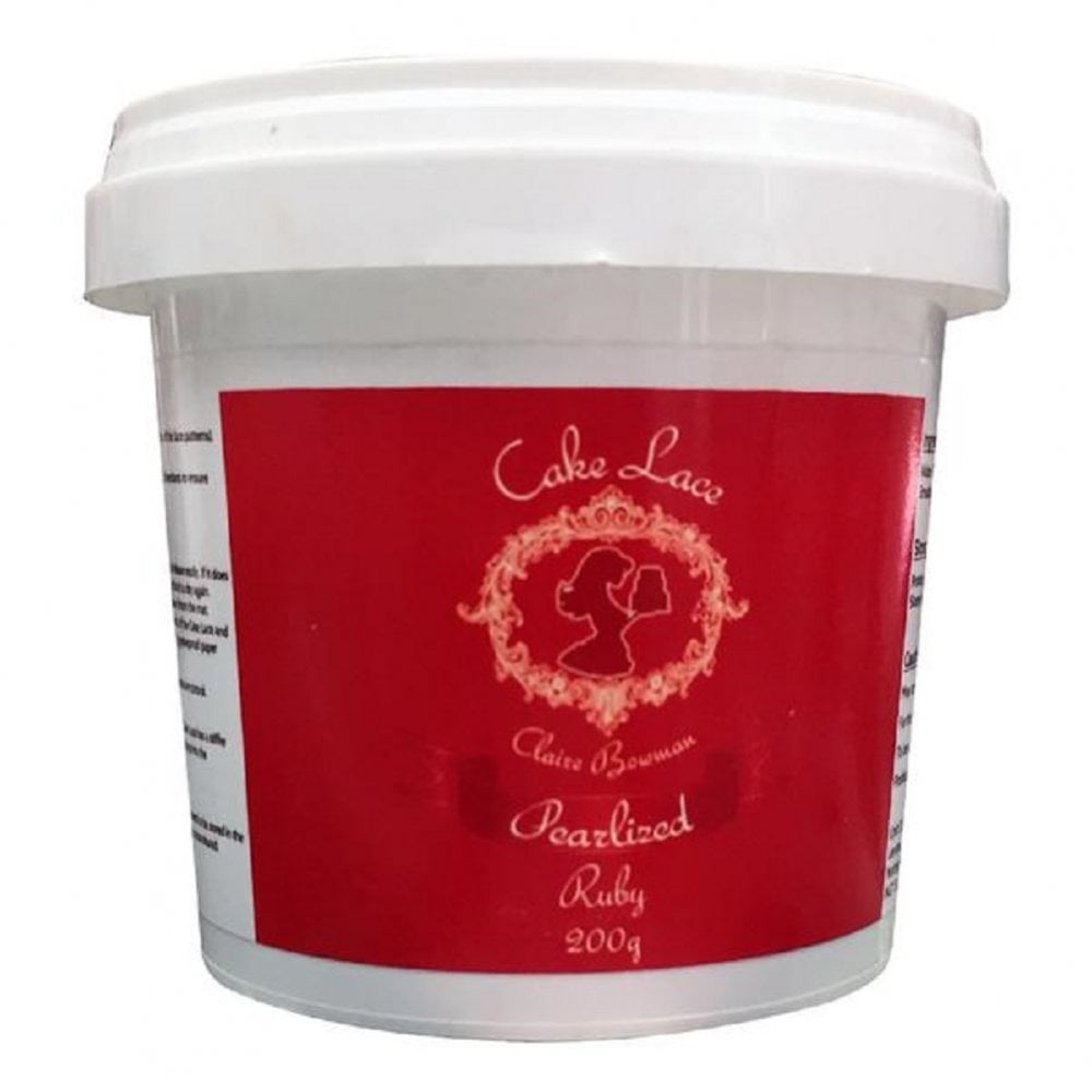 View the 200g PEARLISED REGAL RUBY pre-mixed edible cake lace online at Cake Stuff