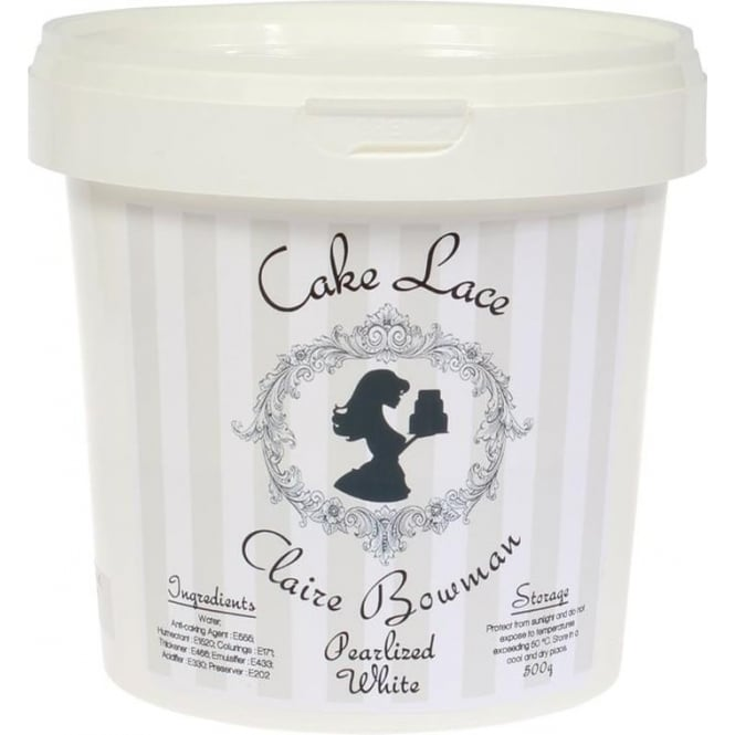 View the 500g PEARLISED WHITE pre-mixed edible cake lace online at Cake Stuff
