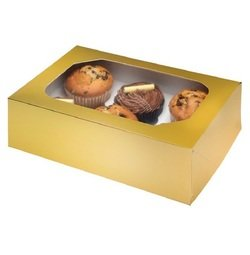 View the GOLD cupcake boxes & inserts - hold 6 online at Cake Stuff