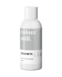 View the CONCRETE GREY oil based concentrated icing colouring 100ml online at Cake Stuff