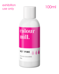 View the original HOT PINK oil based concentrated exhibition icing colouring 100ml - non edible online at Cake Stuff