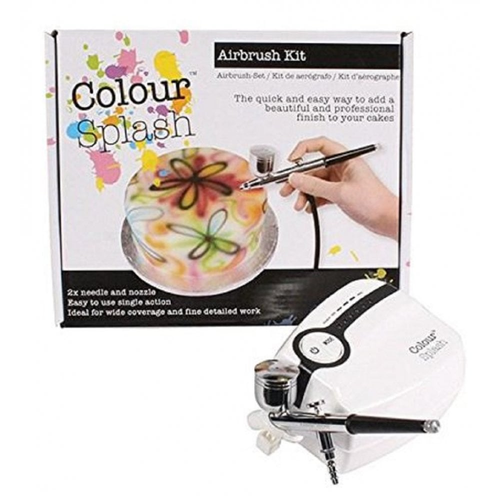 View the AIRBRUSH gun & compressor starter kit - EU plug online at Cake Stuff