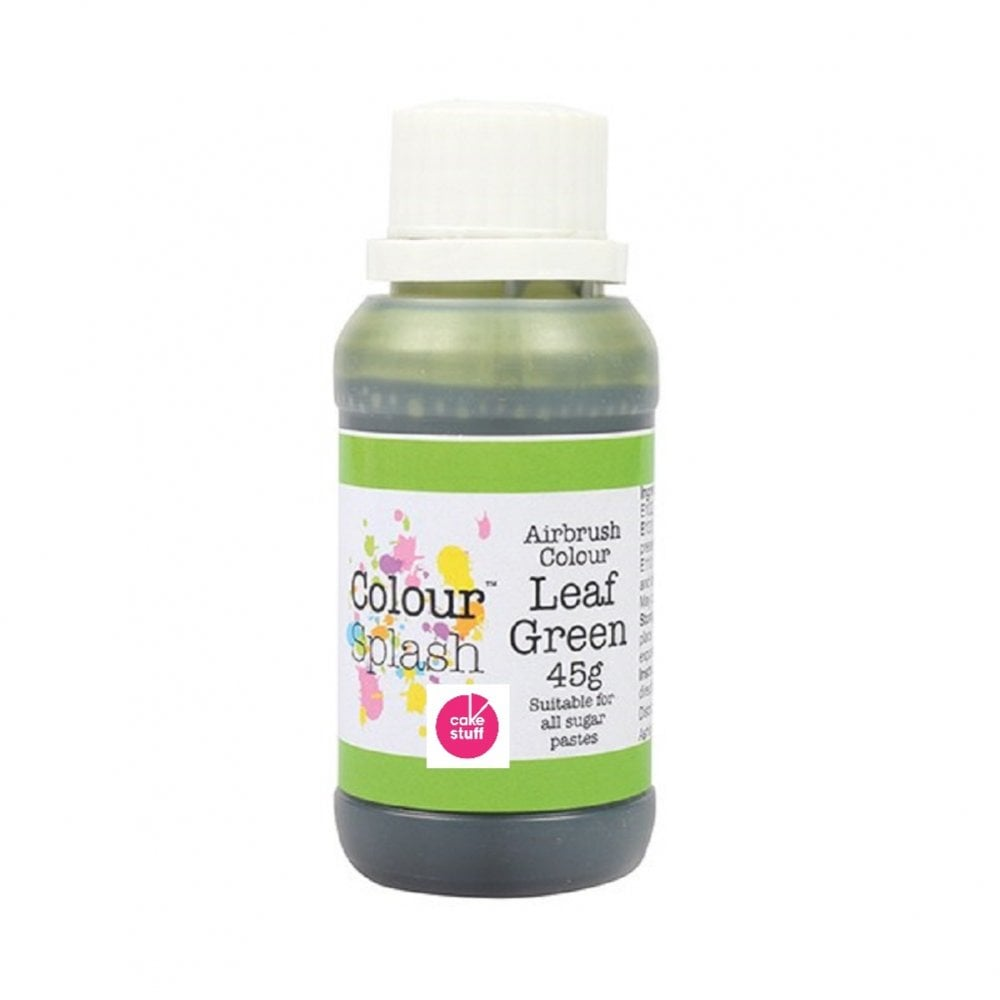 View the LEAF GREEN 45g edible airbrush paint liquid icing colouring online at Cake Stuff