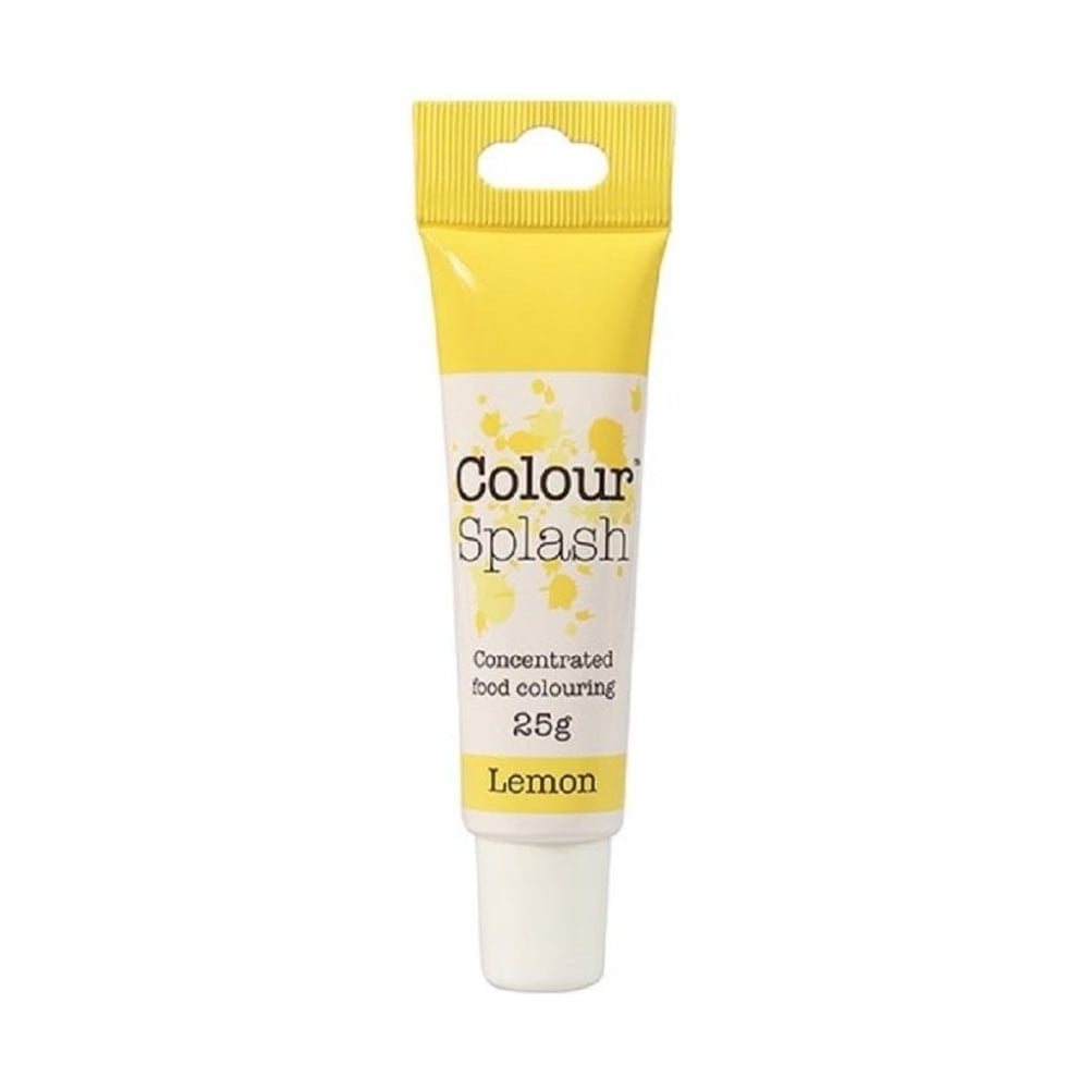 View the LEMON concentrated paste gel icing / food colouring 25g online at Cake Stuff