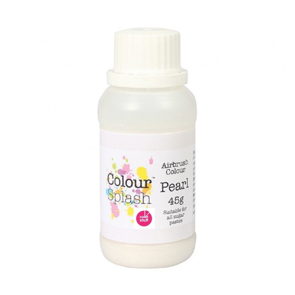 View the PEARL WHITE 45g edible airbrush paint liquid icing colouring online at Cake Stuff