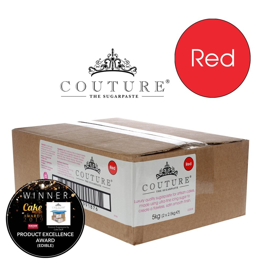 View the 5kg / 11lb RED luxury sugarpaste ready to roll fondant icing online at Cake Stuff