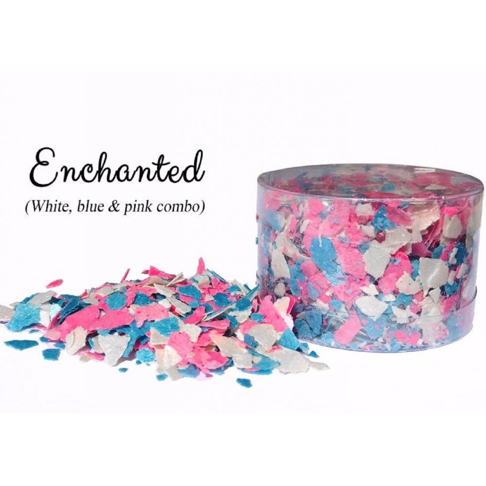 View the ENCHANTED mix pearl edible sugarcraft flakes 6g online at Cake Stuff