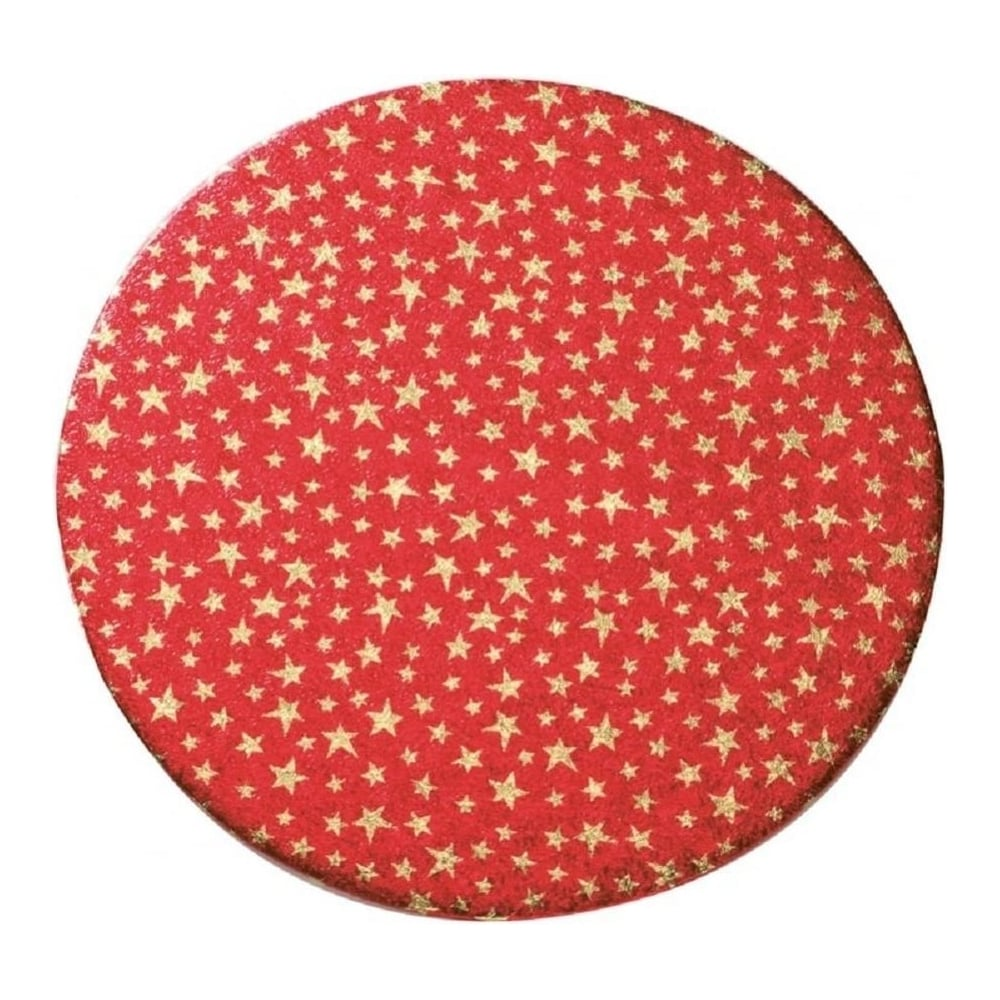 "View the 10"" STARS pattern round double thick cake board / card online at Cake Stuff"