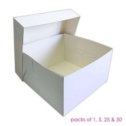 """View the 12"""" 2 piece cake transportation box & lid online at Cake Stuff"""