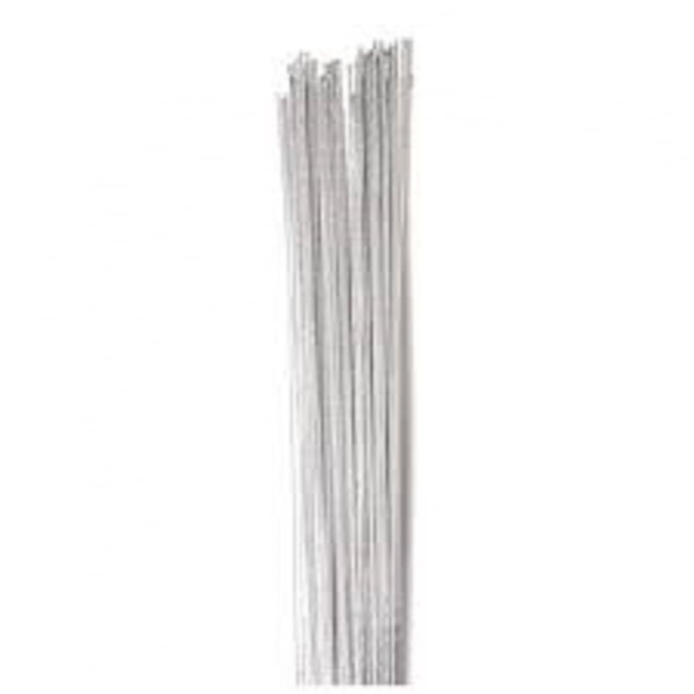 View the 24 gauge SILVER metallic sugarcraft floristry wire - pk 50 online at Cake Stuff