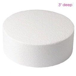 "View the 8"" round cake dummy - straight edge - 3"" deep online at Cake Stuff"
